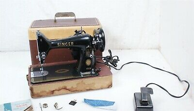 Electric Portable Vintage Antique 1956 Singer 99(k)-31 3/4 Size Sewing Machine