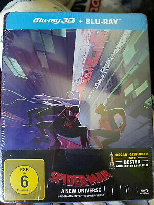 NEW Marvel Spider-man: Into the Spider-verse 3D Blu-ray Steelbook
