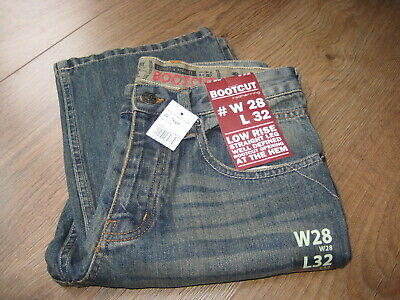 e1f99225 Mens Jeans Size W28 L32 Red Herring Low Rise Straight Leg Bootcut New with  tags