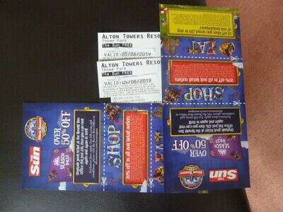 Two Alton Towers Tickets For Wednesday 5Th June 2019 Admits Adult Or Child