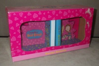 JACQUELINE WILSON Best Friends Wooden BOOK ENDS New/Boxed