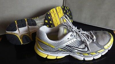 d4a3b1bba511 Mens Nike Air Zoom Structure Triax Running Trainers Yellow   Silver UK 8.5