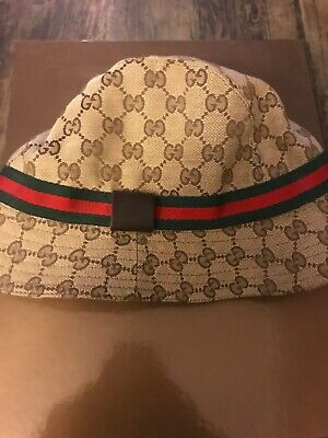 02c92bf0a49a9 GUCCI FEDORA BUCKET hat 100% Authentic GG -  46.00