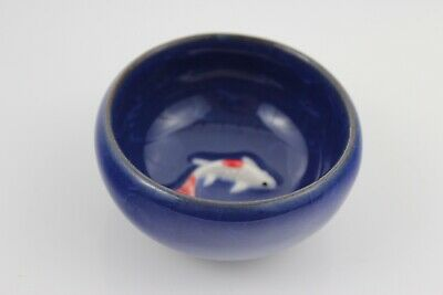 Chinese Ice-Crackle Porcelain Kung Fu Tea Cup/ Bowl Fish Pattern 7x3cm N:3