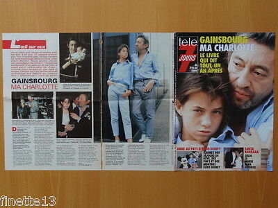 SERGE & CHARLOTTE GAINSBOURG Coupure de presse 5 pages 1992 - French Clippings