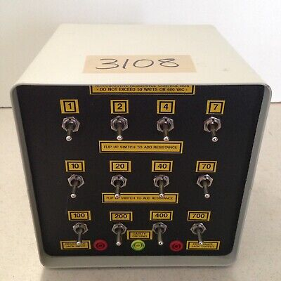 Untested Used Non-Inductive Resistance Decade Box Control Box
