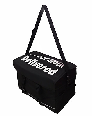 Ex Large Insulated HeavyDuty Hot Food Takeaway Delivery Bag Indian Chinese Pizza