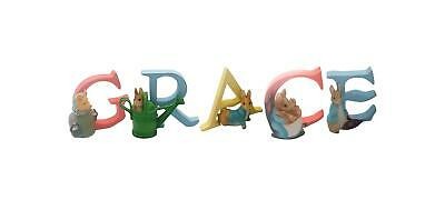 Official Licensed Beatrix Potter Peter Rabbit Girls Name Grace Alphabet Letters