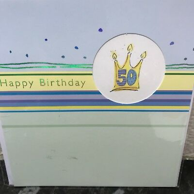 Mens 50th Birthday Card Fifty Today Age 50
