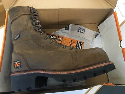 "878a525b45d MEN'S TIMBERLAND 9"" Rip Saw Steel Toe Logger 1026A Waterproof New In ..."