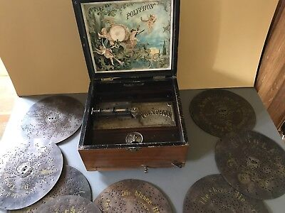 Polyphon Musical box Leipzig and Discs 1900 No 19266 for restoration