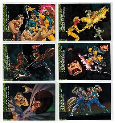 1994 X-Men Series 1 Fleer Ultra Marvel Greatest Battles 6 Card Insert Chase Set