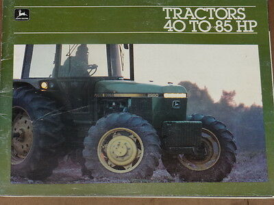 John Deere Tractors 40 To 85 Hp  Brochure
