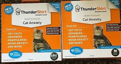 Brand New Boxed Thundershirt CAT ALL SIZES M,L, Gray Free Shipping