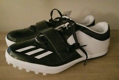 reputable site 4aeaf 4137d Adidas Jumpstar 2 All Around Track And Field Shoes Black White Sz 10 (  CP9370 )