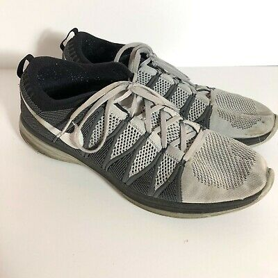 040656b153613 Nike Flyknit Lunar 2 Wolf Grey Black Running Shoes Men s Size 15 Hard to  Find