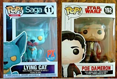 Funko Pop! Vinyl Saga Lying Cat #11 PX Previews & #192 Poe Dameron Star Wars Lot