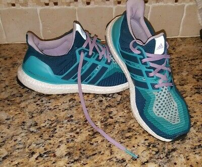 68b6d66f0fe79 ADIDAS Ultraboost 2.0 Green Mineral Purple Glow Running Women s Shoes Size  11