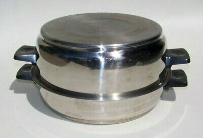 RENA-Ware 3-ply 18-8 Stainless Steel Pan Skillet Pot Lid 2-pc Set 4qt & 9-1/2in
