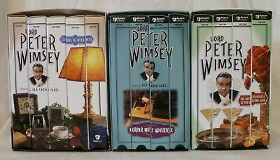 3 Lord Peter Wimsey Vhs Box Sets Clouds Murder Must Advertise Unpleasantness
