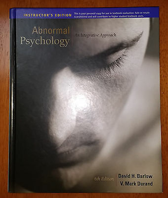 Abnormal Psychology Barlow And Durand 6th Edition Ebook