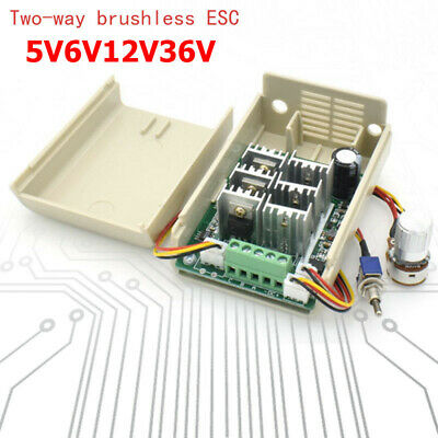 DC 3-phase Brushless Motor Speed Controller CW CCW Switch 5V 12V 24V 36V 15A UK
