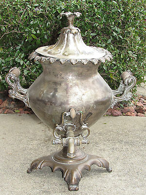 "Antique Silver On Copper-Hot Water-Coffee-Urn ""Best London"" Mark-Old Sheffield-?"