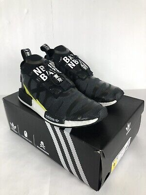 ad481b8b5ee49 EE9702  MEN S ADIDAS NMD TS1 Bape x Neighborhood Black White Grey ...