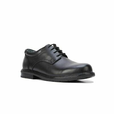 Mens Hush Puppies Daly Black Leather Extra Extra Wide Lace Up Work Shoes Eee