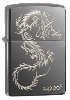 Zippo Windproof Lighter With Engraved Chinese Dragon Design, 49030, New In Box