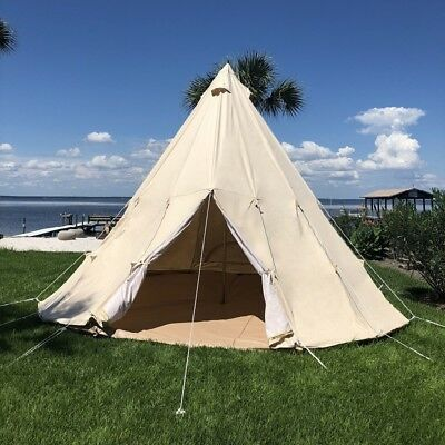 Outstanding Us Shipped Waterproof Canvas Camping Teepee Tent Outdoor Canvas Bell Tipi Tent Download Free Architecture Designs Itiscsunscenecom