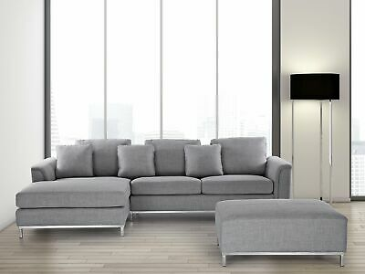 Corner Sofa L-Shaped Right Hand Modern Upholstered Living Room Oslo
