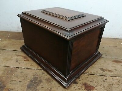 Vintage mahogany wood gramaphone box old