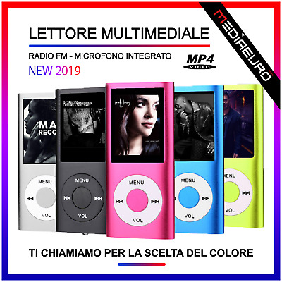 Lettore Mp3 Mp4 Con Radio Fm Sport Lettore Musicale Multimediale Player Ebook
