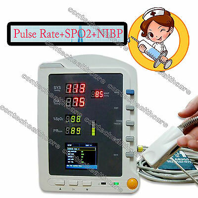CE Vital Signs Patient Monitor Pulse Rate,SPO2,NIBP Blood Pressure,colour,CONTEC