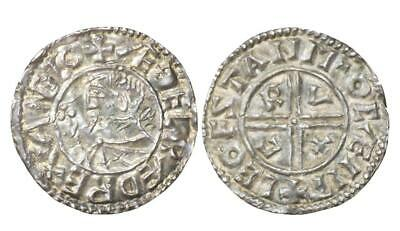 Provenanced Aethelred II Canterbury mint Crux type silver penny 990-997 AD.