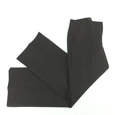 J. Crew Womens Lined Favorite Fit Pants Trousers Brown Size 2 100% Wool Career