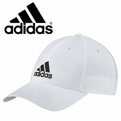 Adidas Classic 6 Panel Lightweight Baseball Cap White Sports Hat Youth & Men's