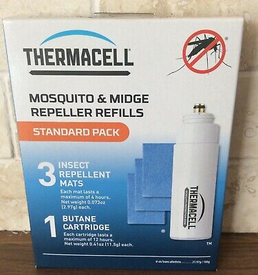 Thermacell Standard Mosquito and Midge Repellent Refill Pack (3 Mats & 1 Gas)