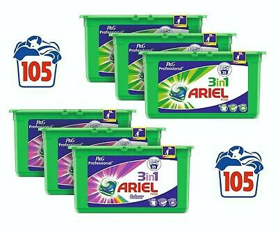 Ariel 3 in 1 Pods Liquitabs Washing Detergent Tablets Capsules 3 x (Pack of 35)