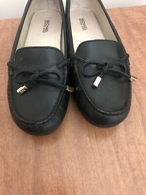 c90a4d61239c MICHAEL Michael Kors Womens Size 7.5M Black Daisy Leather Moccasin Loafer  Flats