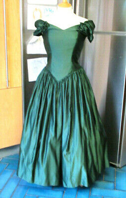 Vintage Berkertex Evening / Bridesmaids Dress Green Prom