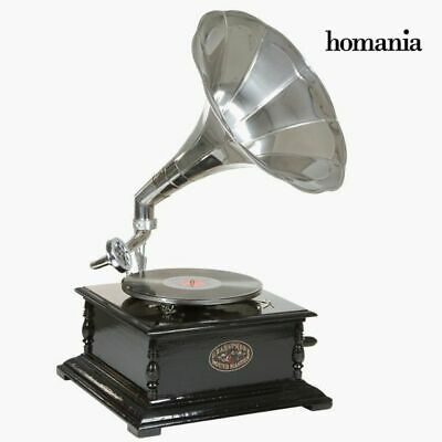 S0103123 52449 gramophone Carré Noir Argent - Collection Old Style by Homania
