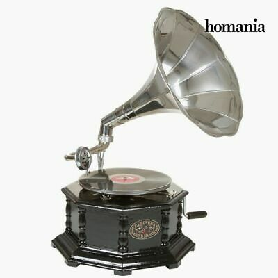 S0103124 52449 gramophone Octogonal Noir Argent - Collection Old Style by Homani