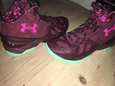 22c01ed80bc3 Under Armour Stephen Curry 2 BHM Purple Green Limited Edition Size 11