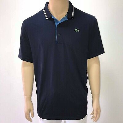 5cfeb2e0 Lacoste Mens Sport Lettering Stretch Technical Jersey Golf Polo Shirt 2XL