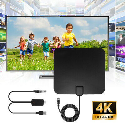 100 Mile HDTV Indoor Antenna Aerial HD Digital TV Signal Amplified Booster AH445