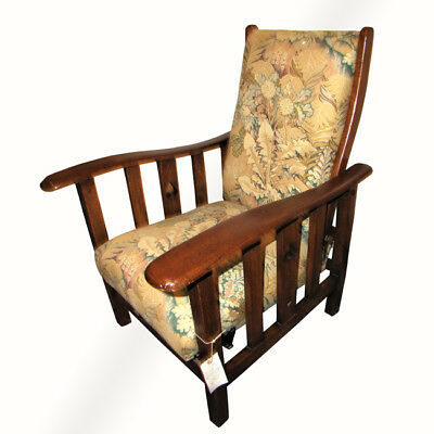 Vintage Reclining Chair with Cutouts  w346 MORRIS CHAIR
