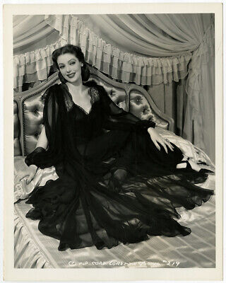 Loretta Young Vintage 1941 Bedtime Story Hollywood Regency Glamour Photograph