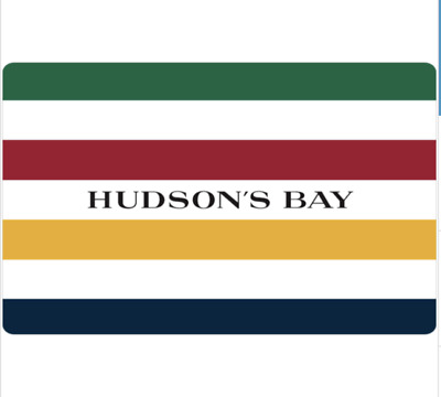 Buy $100 Hudson's Bay Gift Card for only $85 - Email Delivery